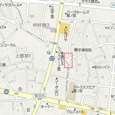 上田動物病院地図案内